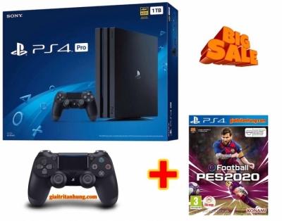 Combo Máy PS4 Pro 1TB OM 2 tay Chính Hãng Kèm 02 Games