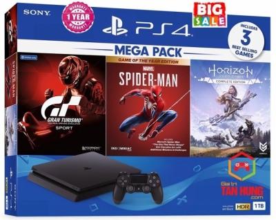Combo Máy PS4 Slim 1Tb MeGa3 Chính hãng Sony VN