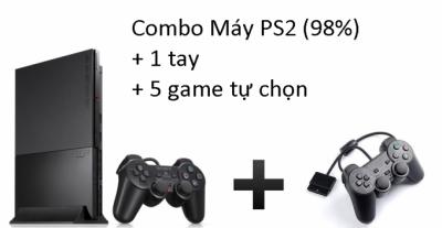 Combo Máy PS2 (98%) đời 9000 + 1 tay + 5 game tự chọn
