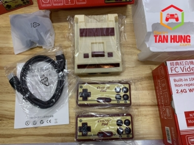 Máy Điện tử 4 nút Mini Classic FC Compact HD 1080P Kèm 1000games