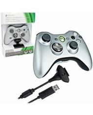 Tay cầm chơi game Xbox 360 - Silver & Charge Kit