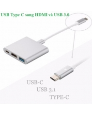 Dây chuyển đổi USB type C sang HDMI USB 3.0 và USB C