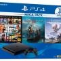 Combo Máy PS4 Slim MeGaPack2 1Tb Chính hãng Sony VN Kèm quà tặng KM